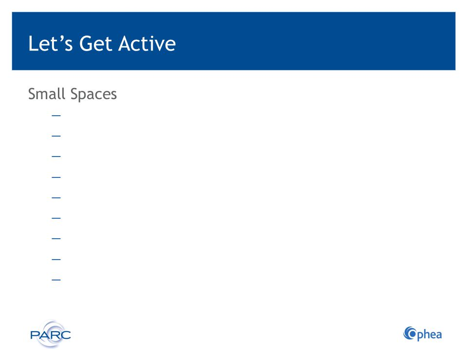 Let's Get Active Small Spaces Ready-to-go Activities: Small Spaces