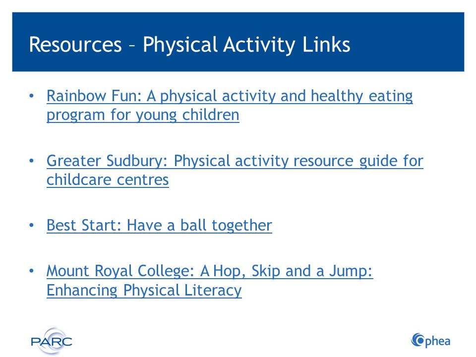 Resources – Physical Activity Links