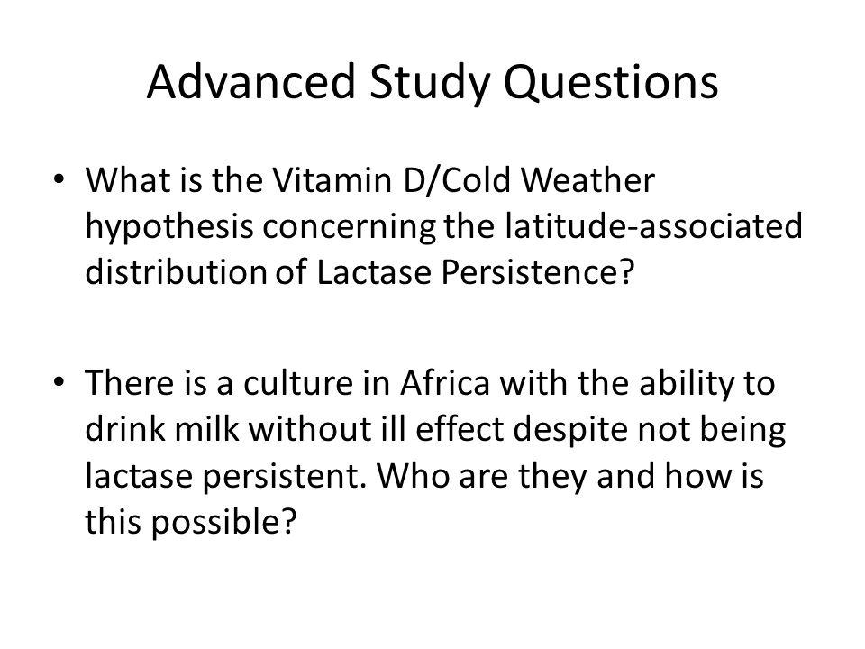 Advanced Study Questions