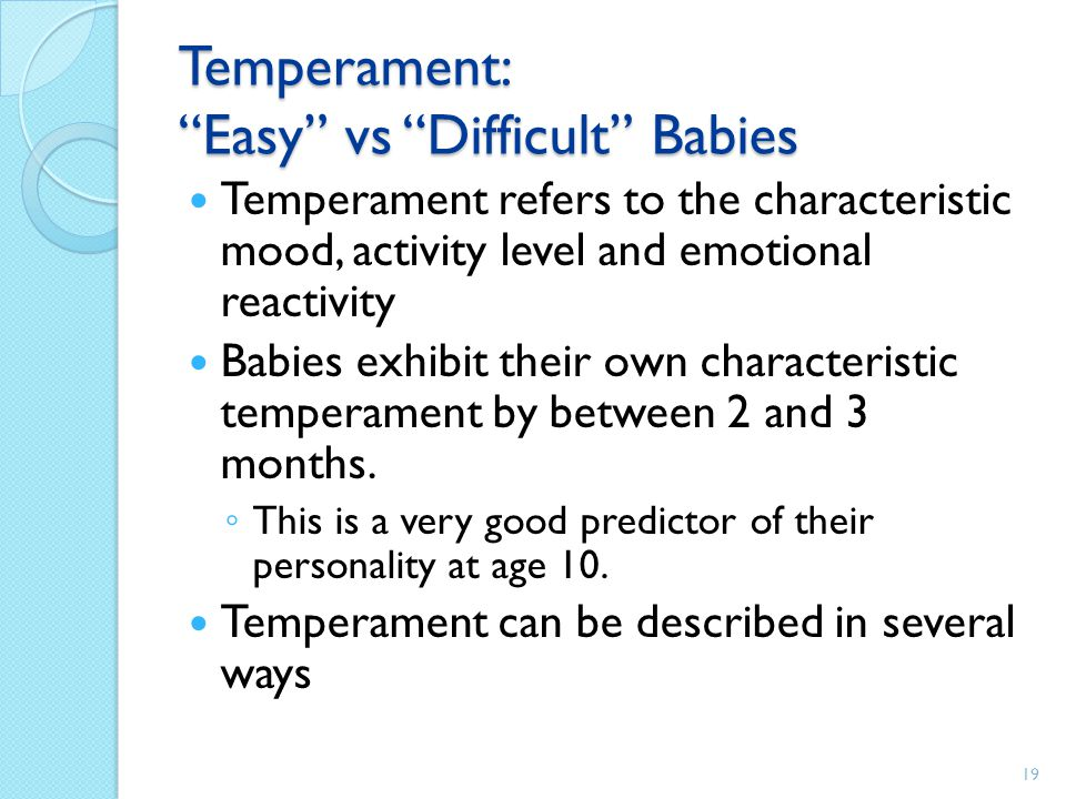 Temperament: Easy vs Difficult Babies