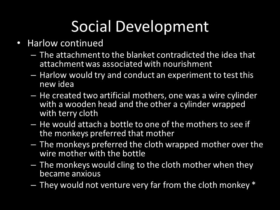 Social Development Harlow continued