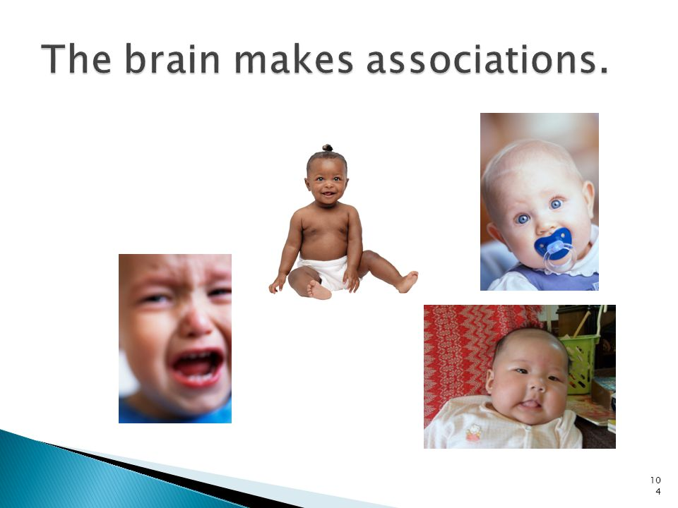 The brain makes associations.