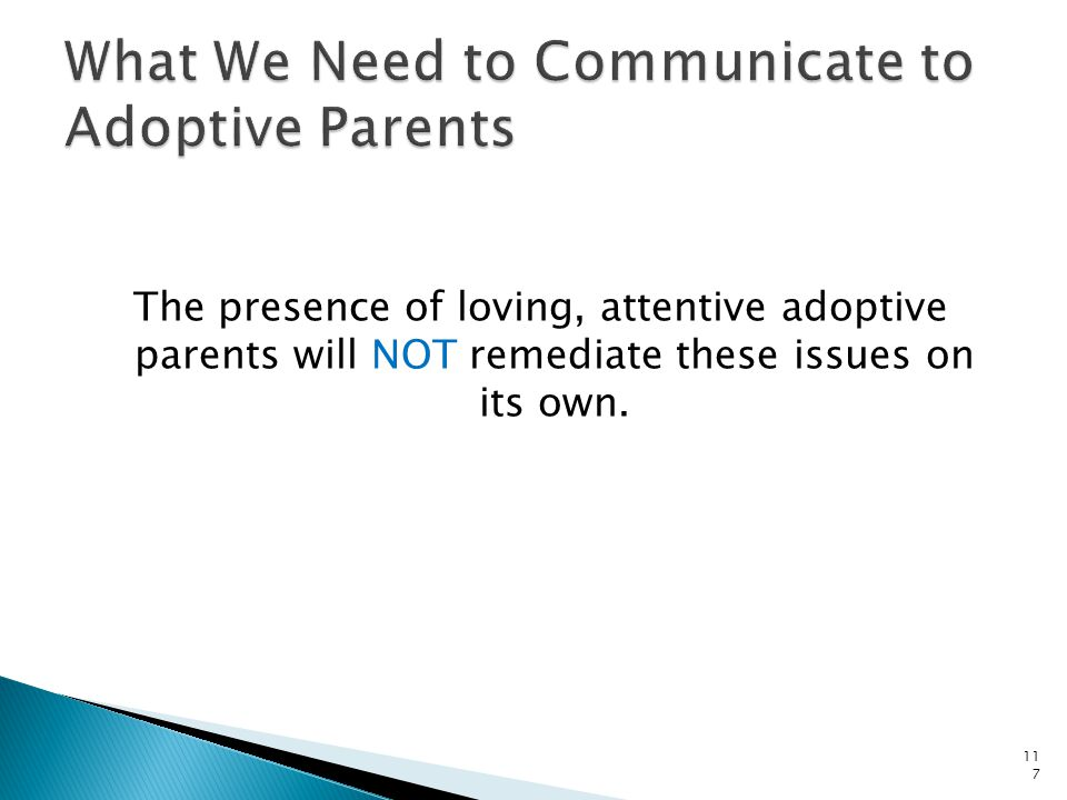 What We Need to Communicate to Adoptive Parents