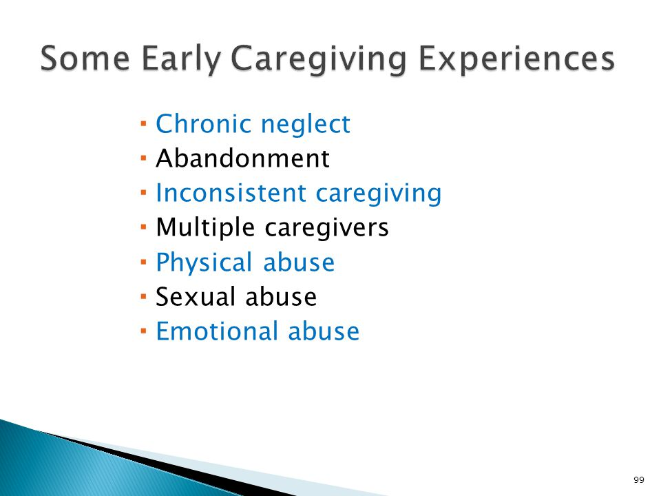 Some Early Caregiving Experiences