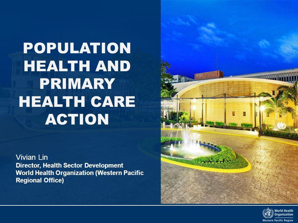 POPULATION HEALTH AND PRIMARY HEALTH CARE ACTION
