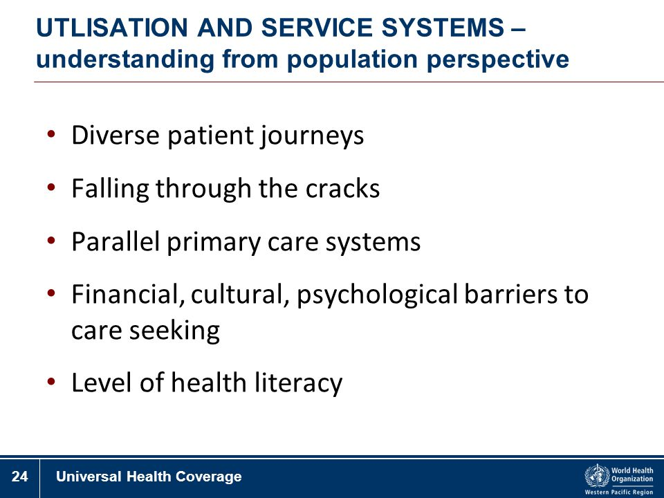 Diverse patient journeys Falling through the cracks