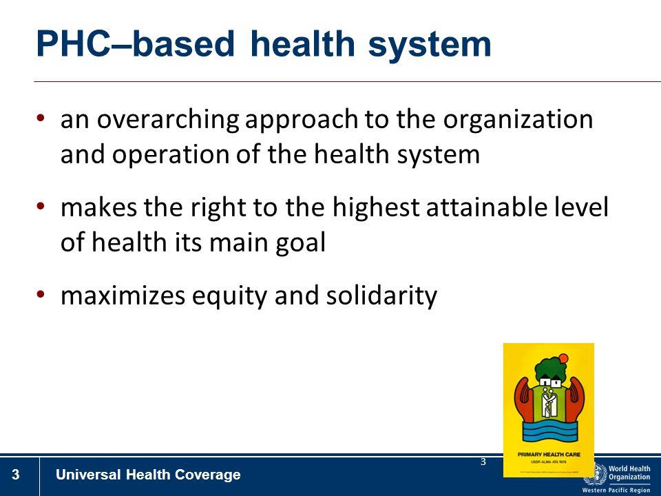 PHC–based health system