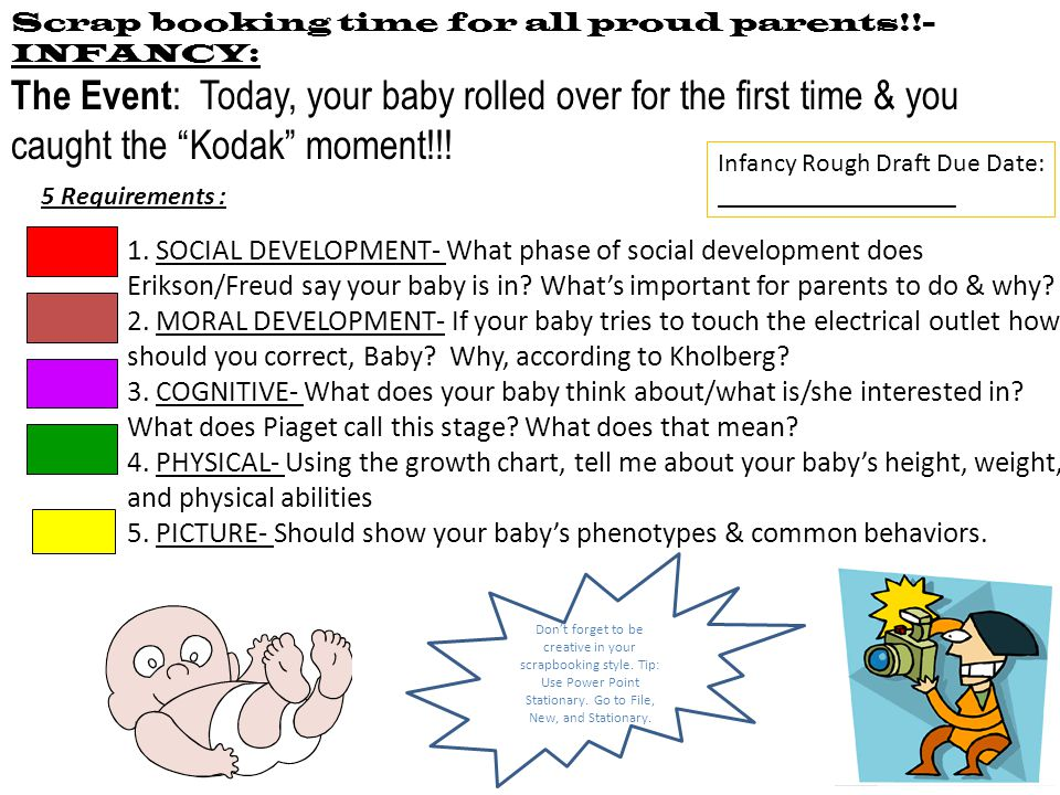 Scrap booking time for all proud parents!!-