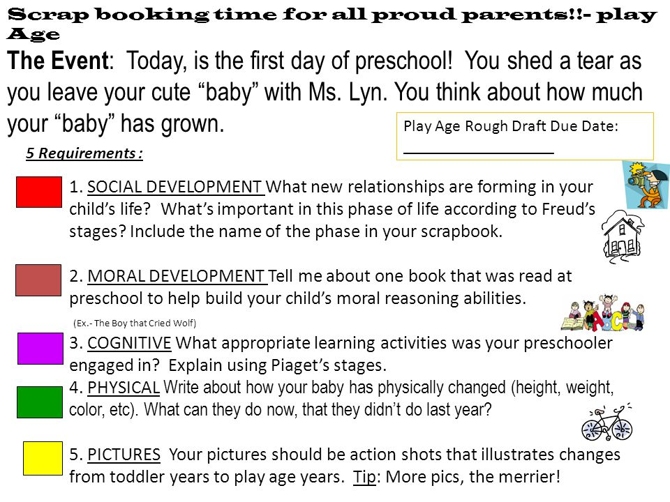 Scrap booking time for all proud parents!!- play Age