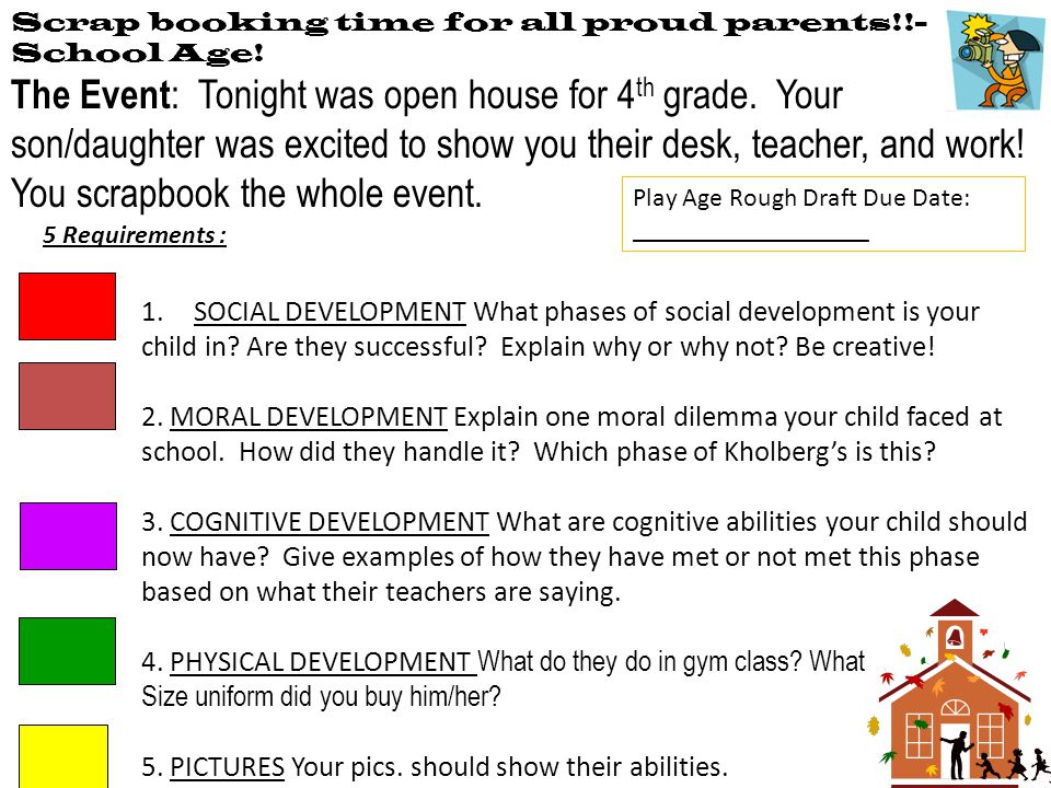 Scrap booking time for all proud parents!!- School Age!