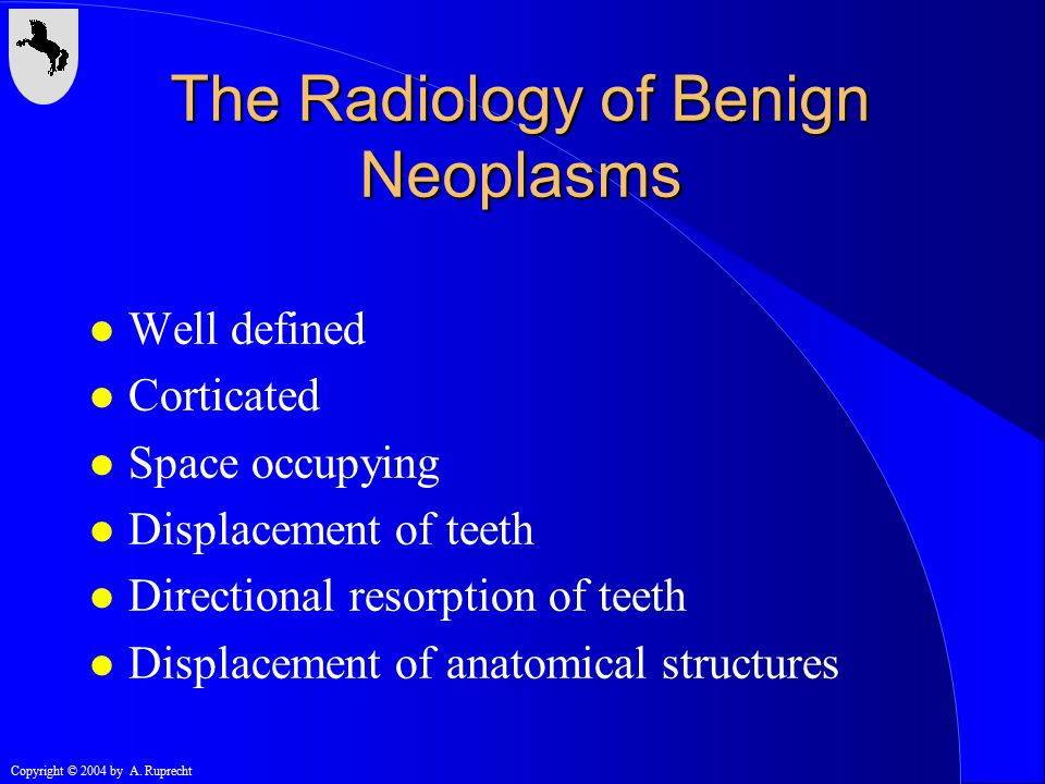 The Radiology of Benign Neoplasms