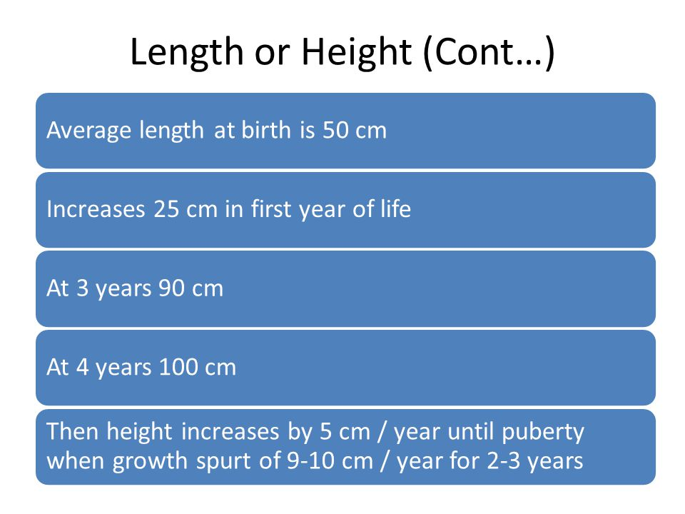 Length or Height (Cont…)