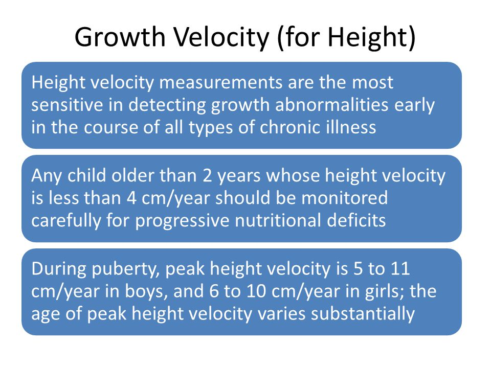 Growth Velocity (for Height)