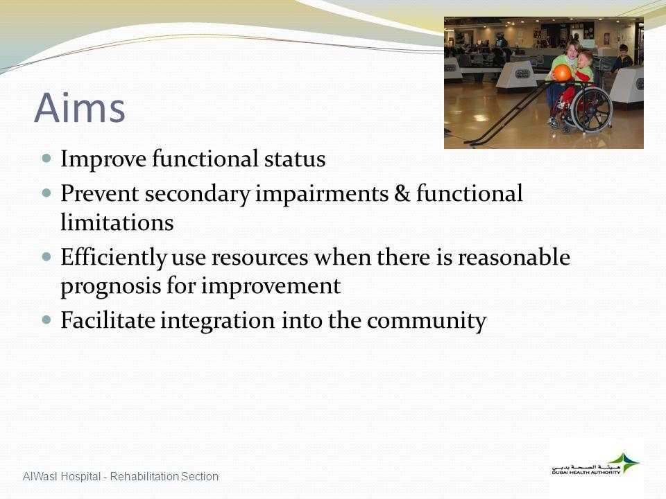 Aims Improve functional status