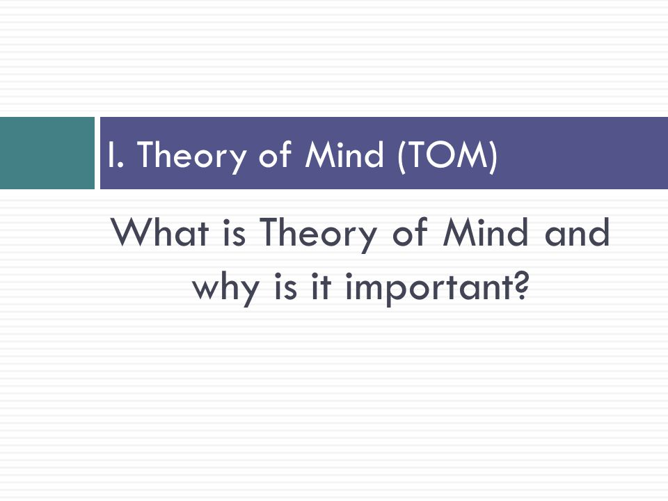 What is Theory of Mind and why is it important