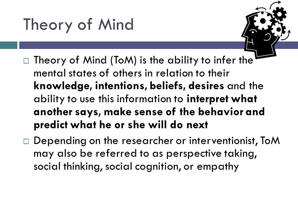 Theory of Mind