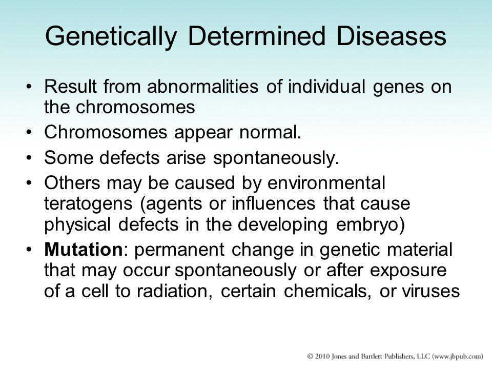 Genetically Determined Diseases