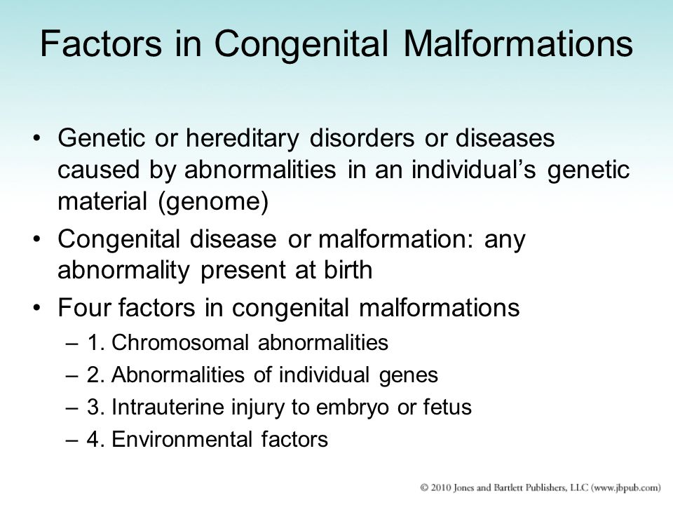 Factors in Congenital Malformations