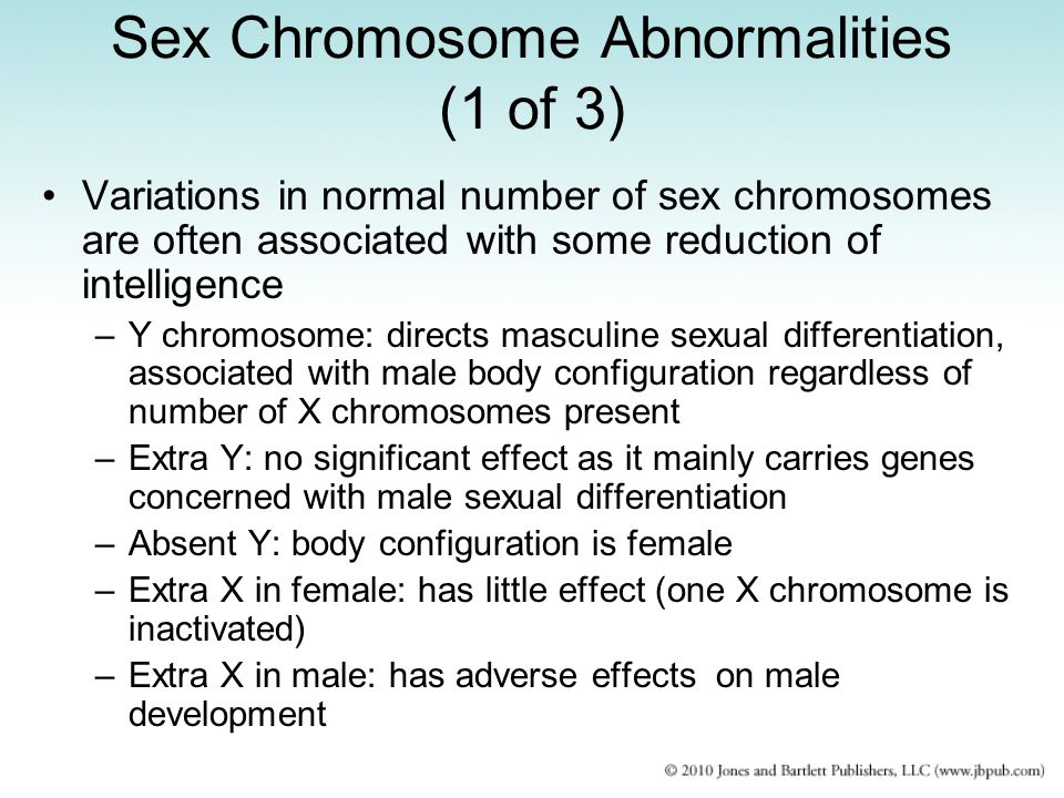 Sex Chromosome Abnormalities (1 of 3)