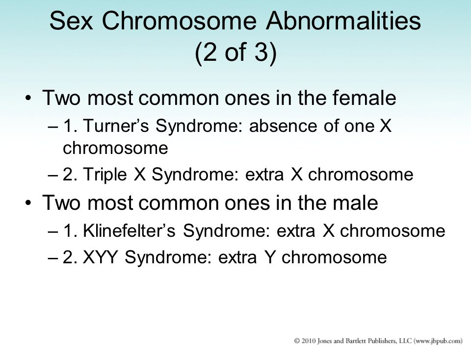 Sex Chromosome Abnormalities (2 of 3)