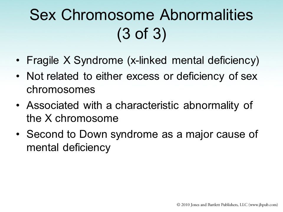 Sex Chromosome Abnormalities (3 of 3)