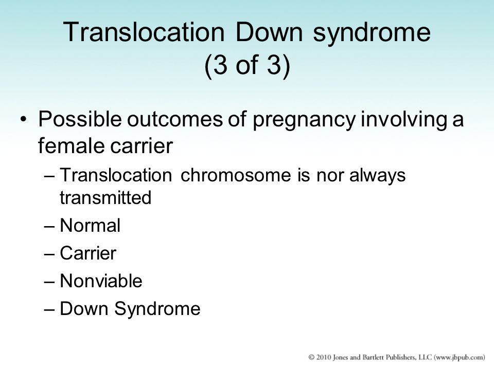 Translocation Down syndrome (3 of 3)