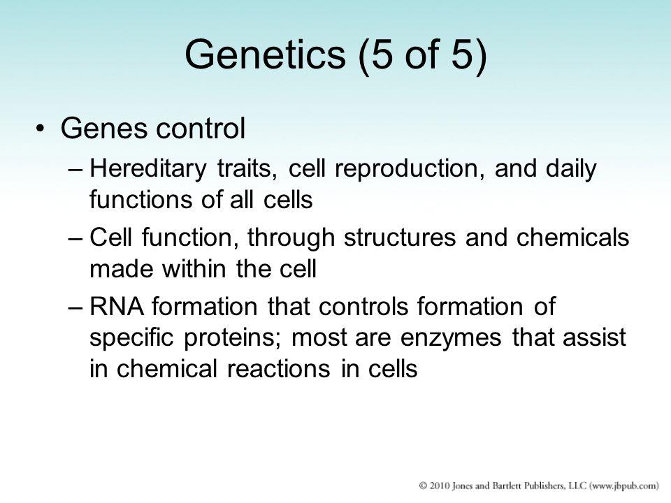 Genetics (5 of 5) Genes control