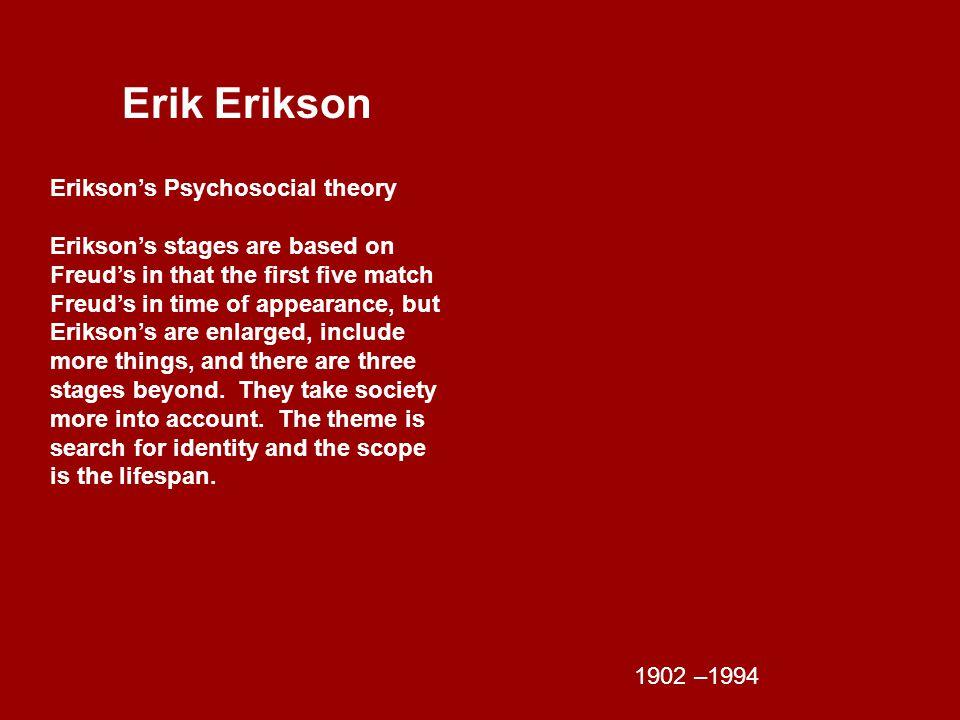 Erik Erikson Erikson's Psychosocial theory