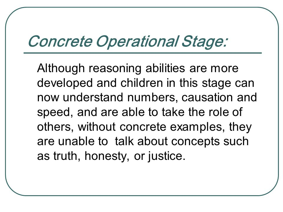 Concrete Operational Stage: