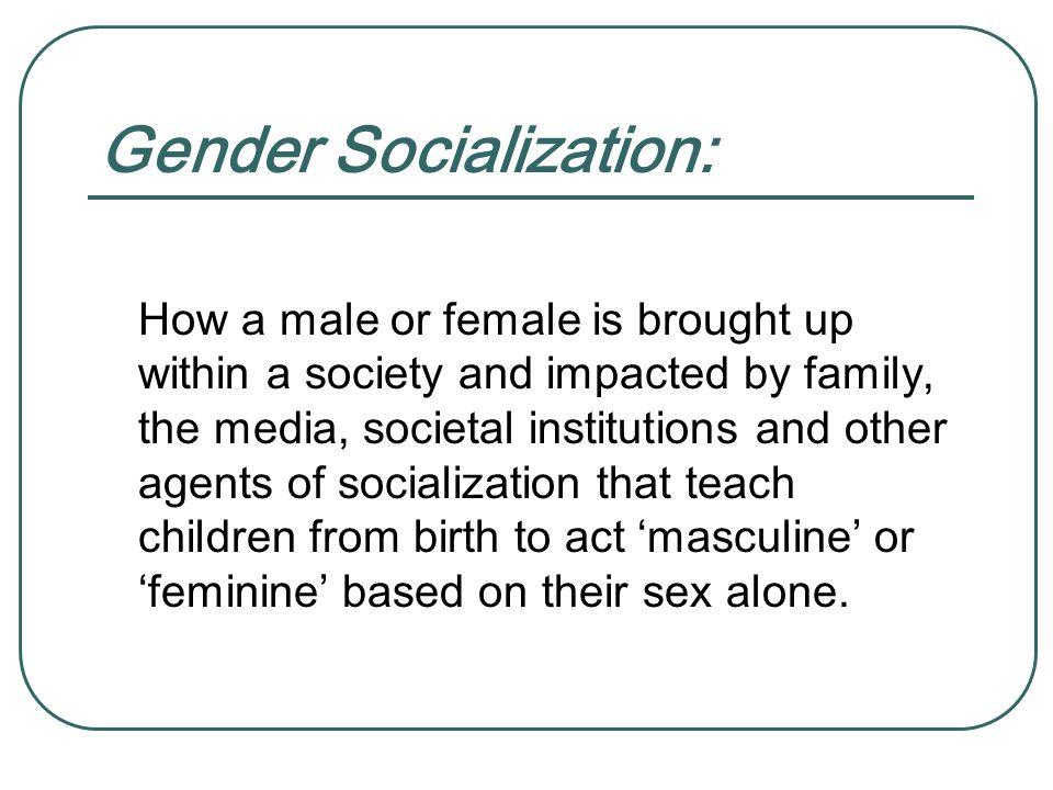 Gender Socialization: