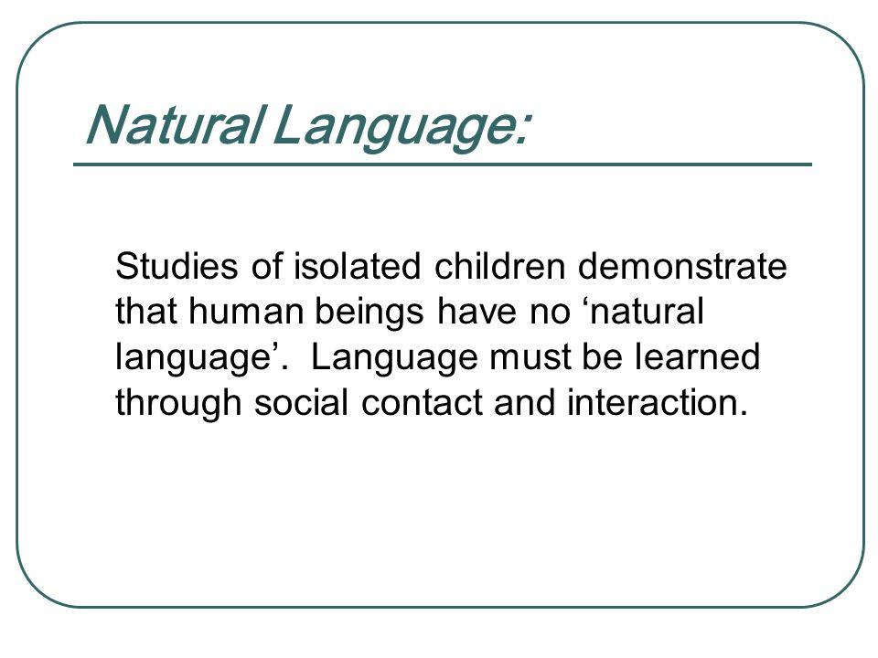 Natural Language: