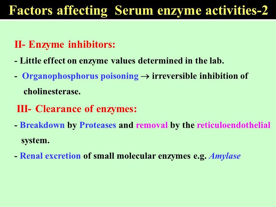 Factors affecting Serum enzyme activities-2
