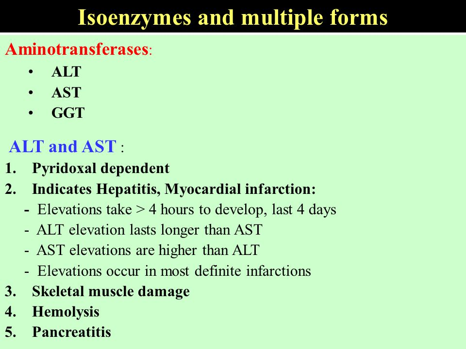 Isoenzymes and multiple forms