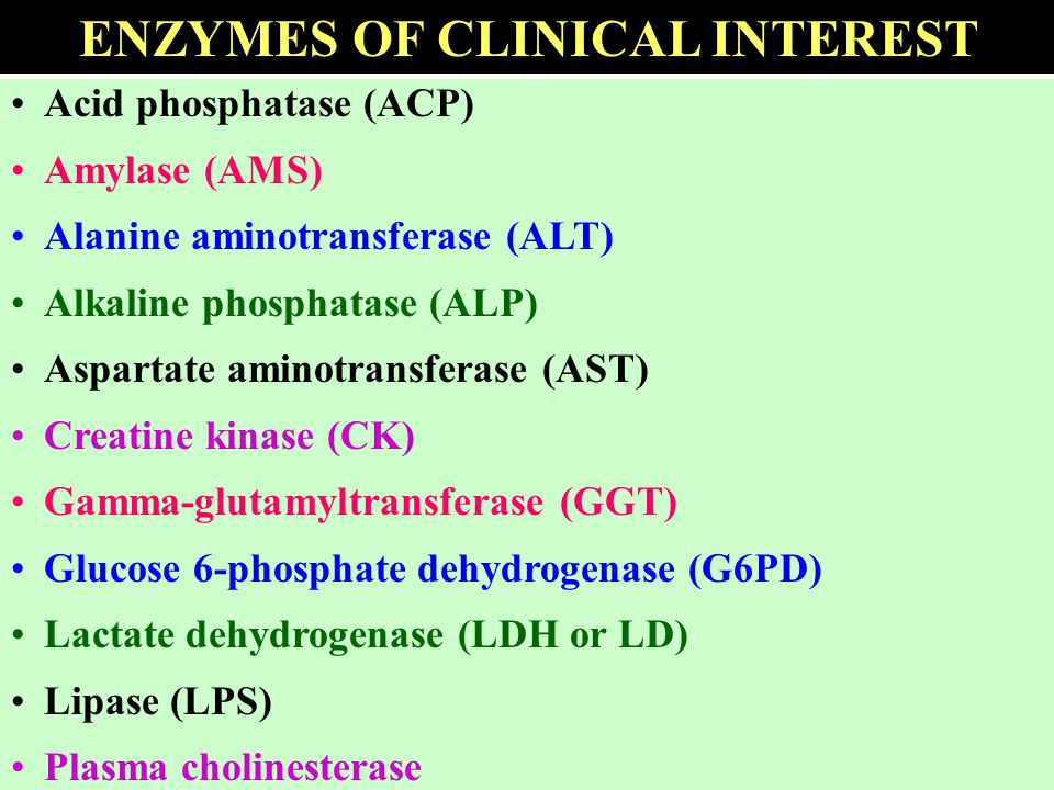 ENZYMES OF CLINICAL INTEREST