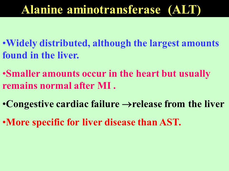Alanine aminotransferase (ALT)