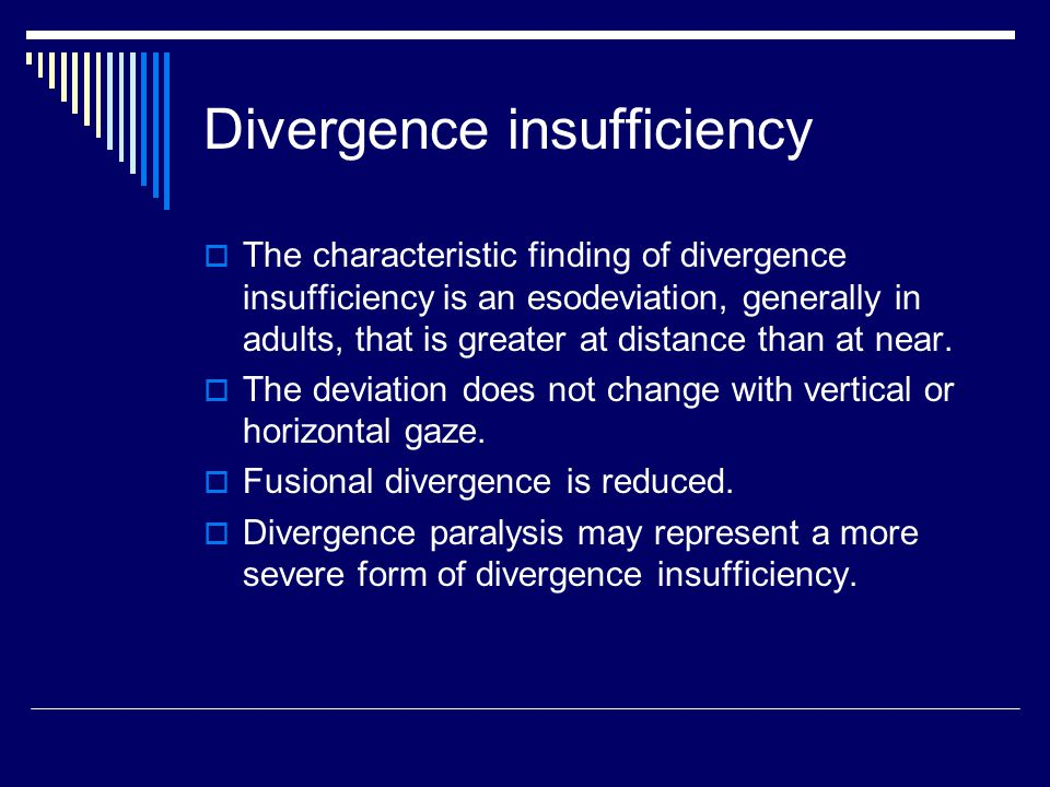Divergence insufficiency