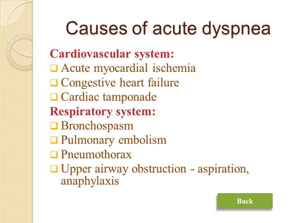 Causes of acute dyspnea