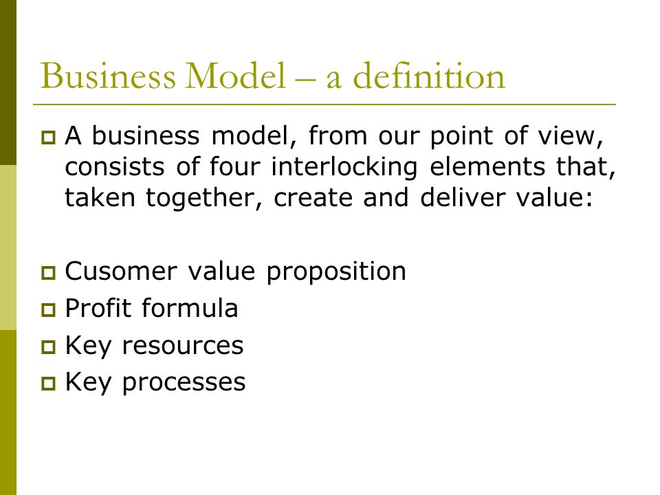 Business Model – a definition