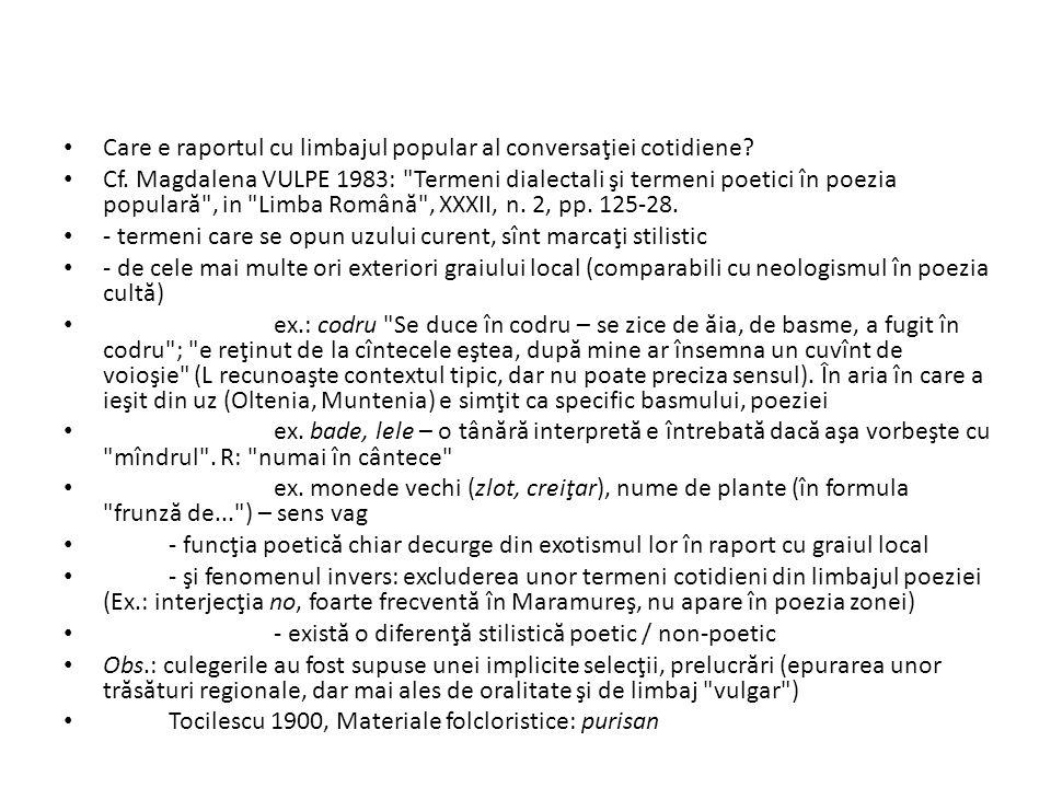 Care e raportul cu limbajul popular al conversaţiei cotidiene