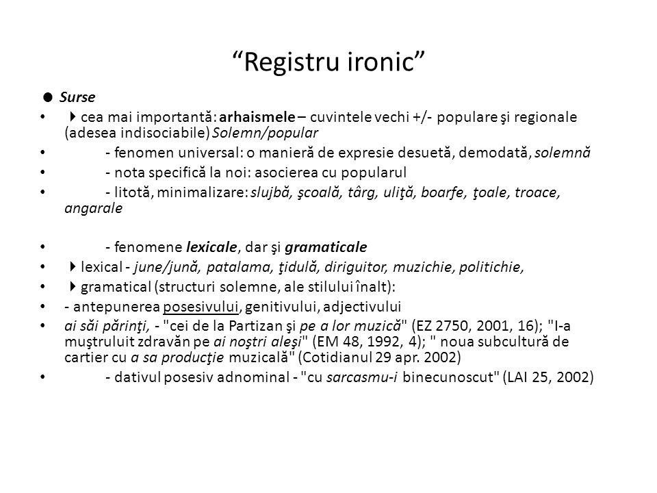 Registru ironic  Surse