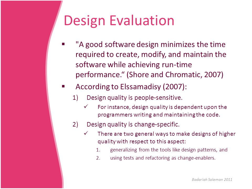 Design Evaluation