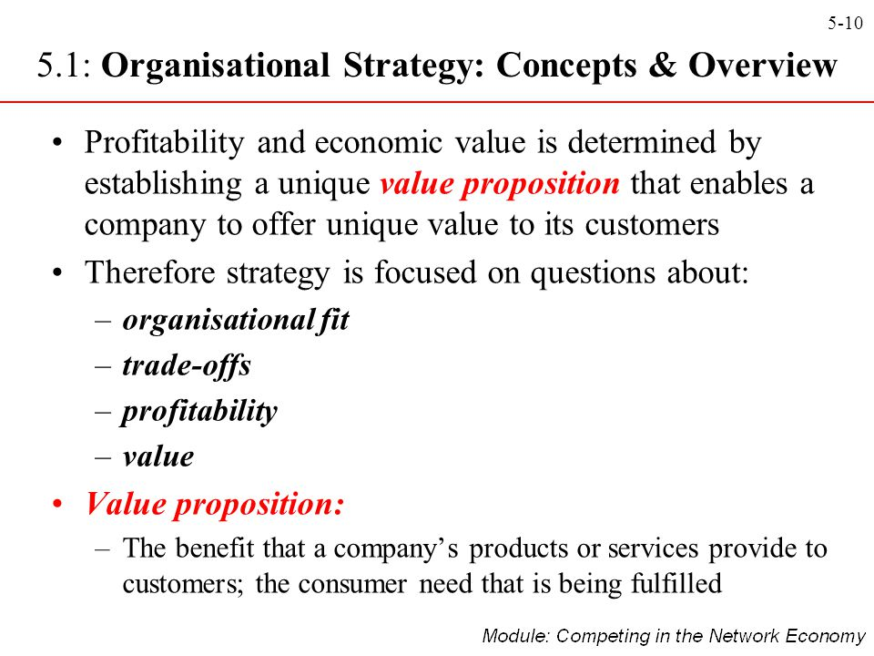 5.1: Organisational Strategy: Concepts & Overview