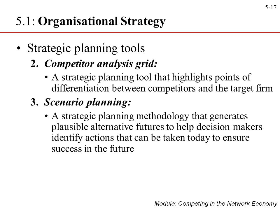 5.1: Organisational Strategy