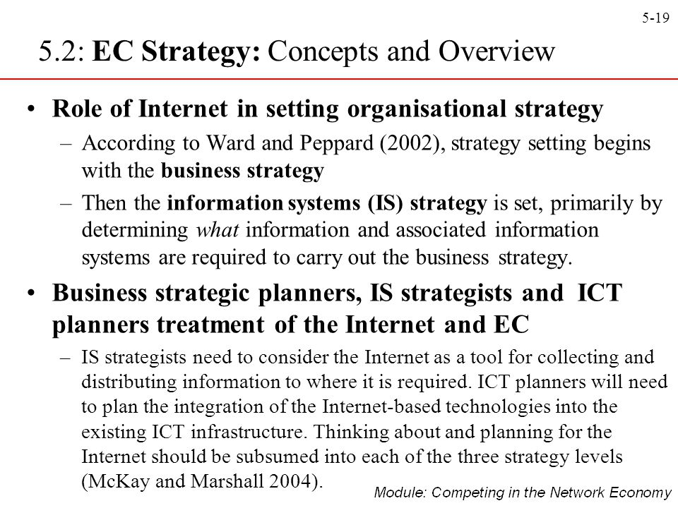 5.2: EC Strategy: Concepts and Overview
