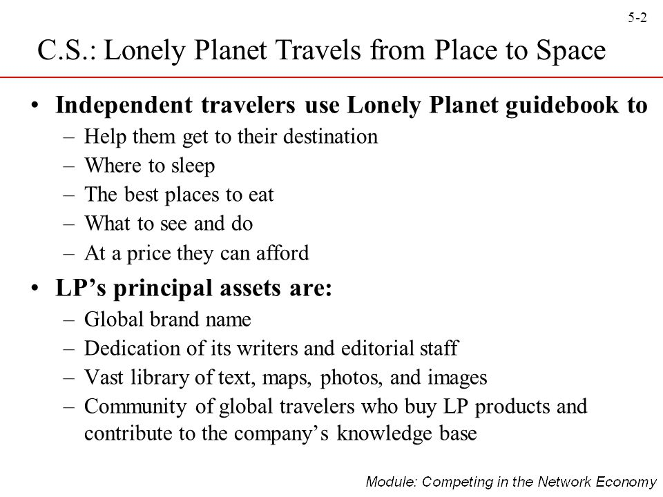 C.S.: Lonely Planet Travels from Place to Space