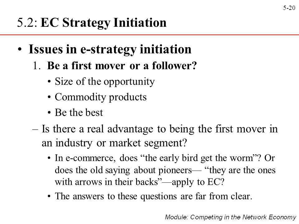 5.2: EC Strategy Initiation