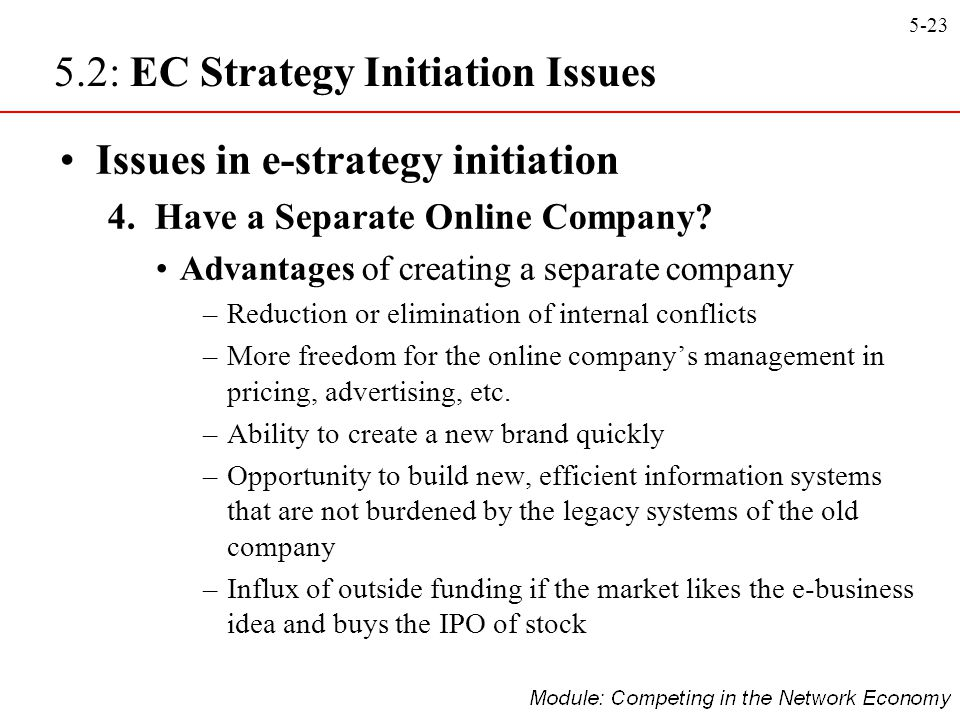 5.2: EC Strategy Initiation Issues
