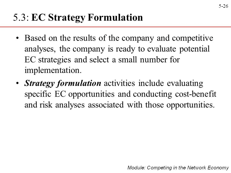 5.3: EC Strategy Formulation