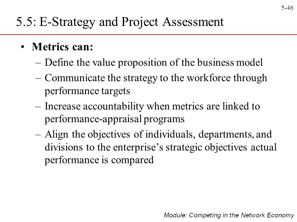 5.5: E-Strategy and Project Assessment