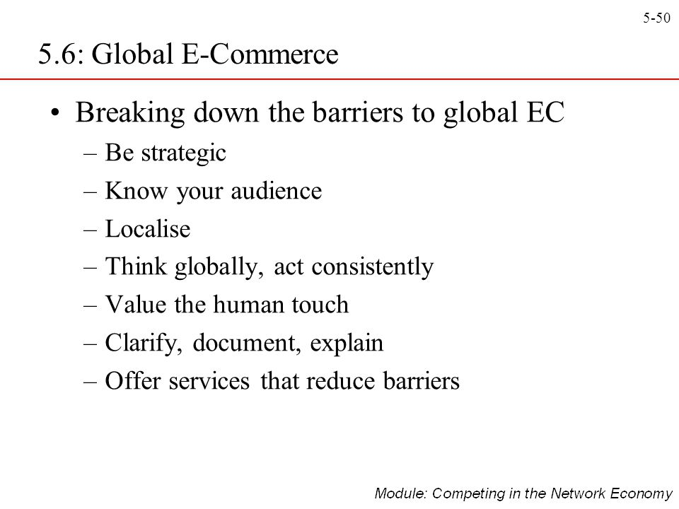 Breaking down the barriers to global EC